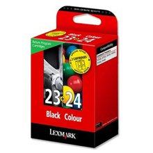 זוג ראש דיו שחור+צבע מקורי 23+24 Lexmark 18C1419E