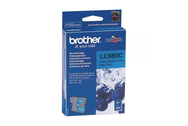 מיכל דיו מקורי ציאן BROTHER LC980C