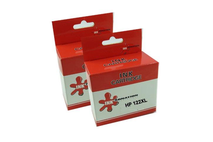 זוג ראשי דיו חליפים HP122XL שחור + צבע