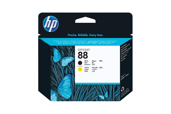 ראש הדפסה מקורי שחור וצהוב (HP C9381A (88