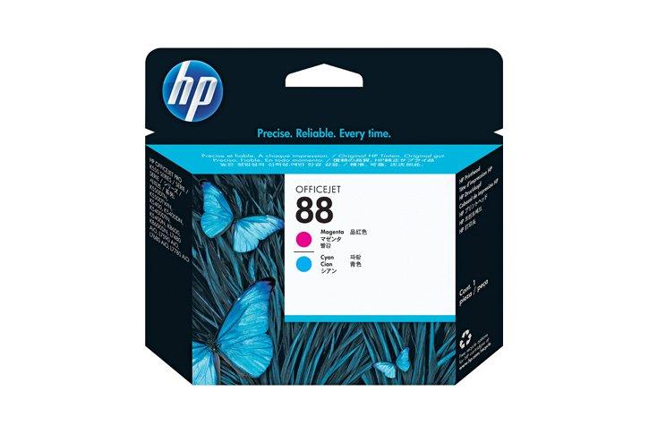 ראש הדפסה מקורי ציאן ומגנטה (HP C9382A (88