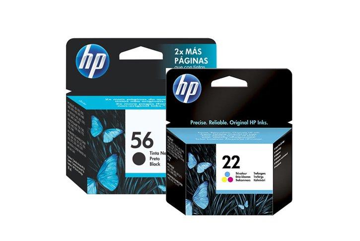 זוג ראשי דיו מקוריים (HP 9352A+6656A (22+56