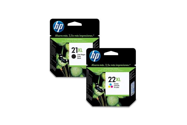 זוג ראשי דיו מקוריים(HP C9351AE+C9352CE (21XL+22XL
