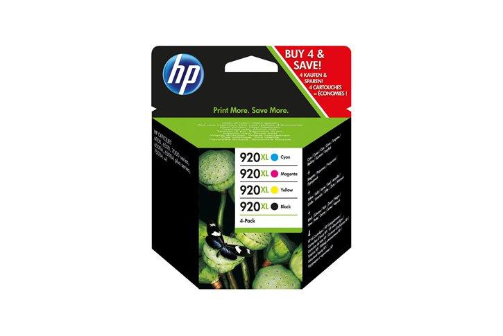 סט 4 ראשי דיו מקוריים (HP CD972-3-4-5 (920XL