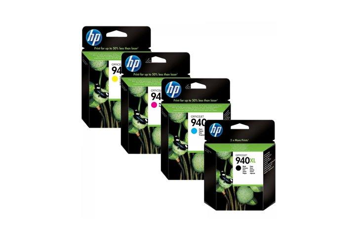 סט 4 ראשי דיו מקוריים (HP C4906-7-8-9A (940XL