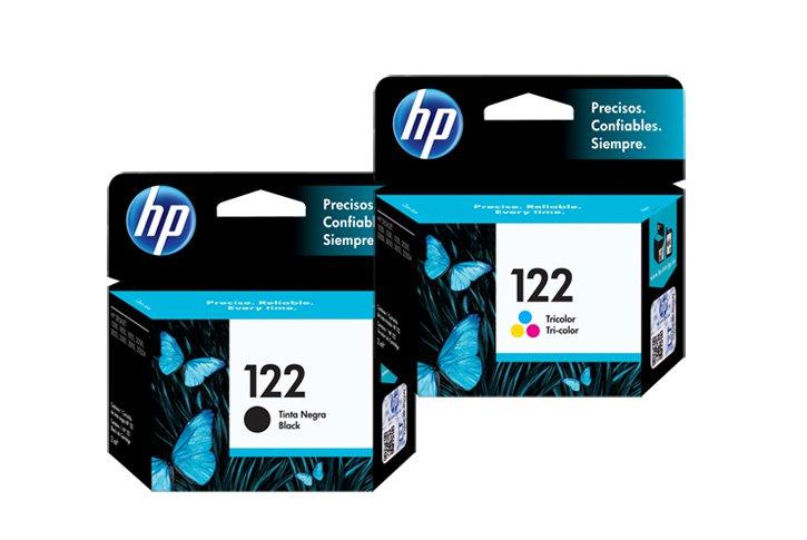 זוג ראשי דיו מקוריים (122) HP CH561HE+ CH562HE
