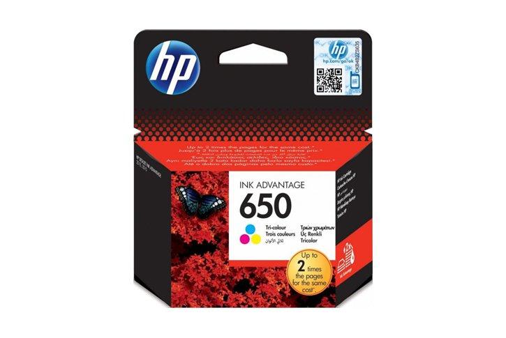 ראש דיו צבעוני מקורי (HP CZ102AE (650