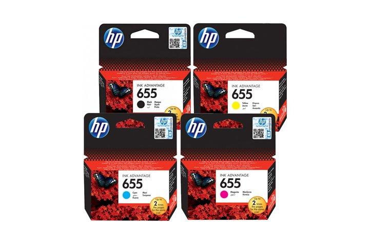 סט ראשי דיו מקוריים שחור ו-3 צבעים (HP CZ109-112AE (655