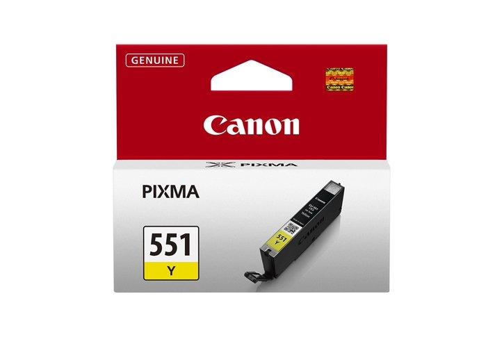 ראש דיו מקורי קנון צהוב CANON CLI-551Y