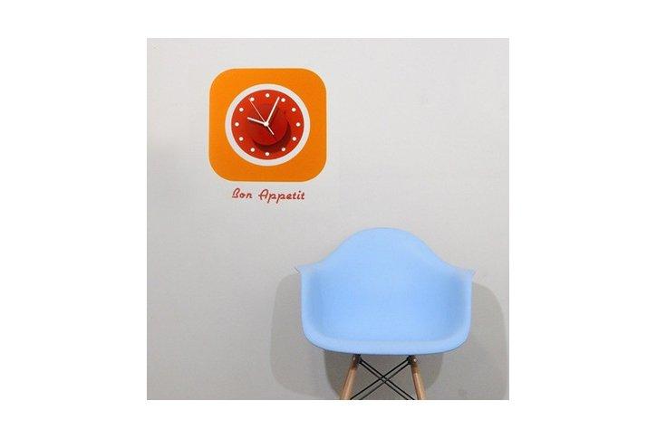 מדבקת קיר - שעון retro