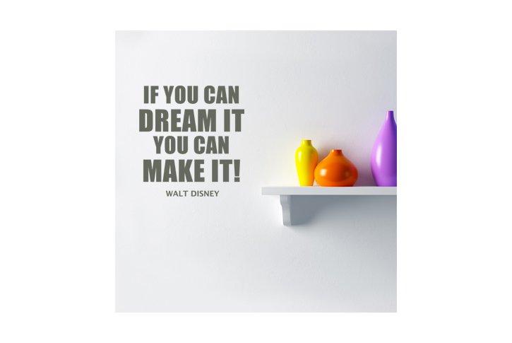 מדבקת קיר - Dream