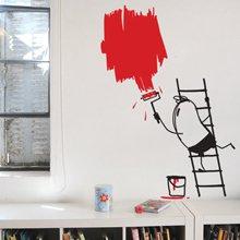 מדבקת קיר -  painter wally