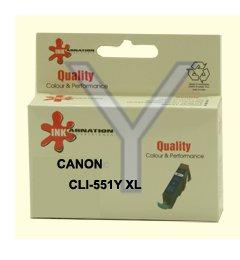 ראש דיו  גדול תואם צהוב CANON CLI-551Y XL