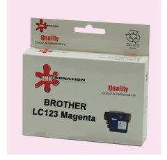 ראש דיו מגנטה תואם BROTHER LC123M