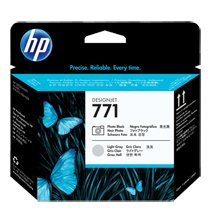 ראש הדפסה שחור צילום/אפור בהיר HP 771-CE020Aׁ