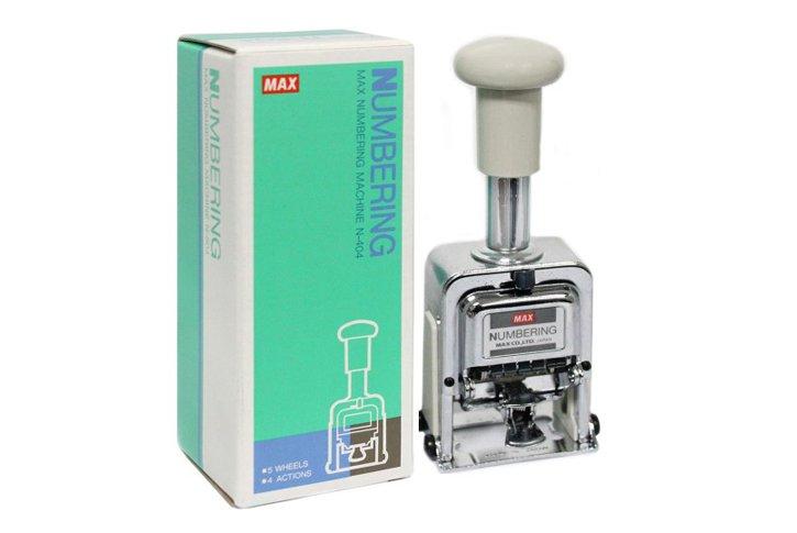 חותמת - נומרטור מתכתי אוטומטי -  5 ספרות - MAX N-504