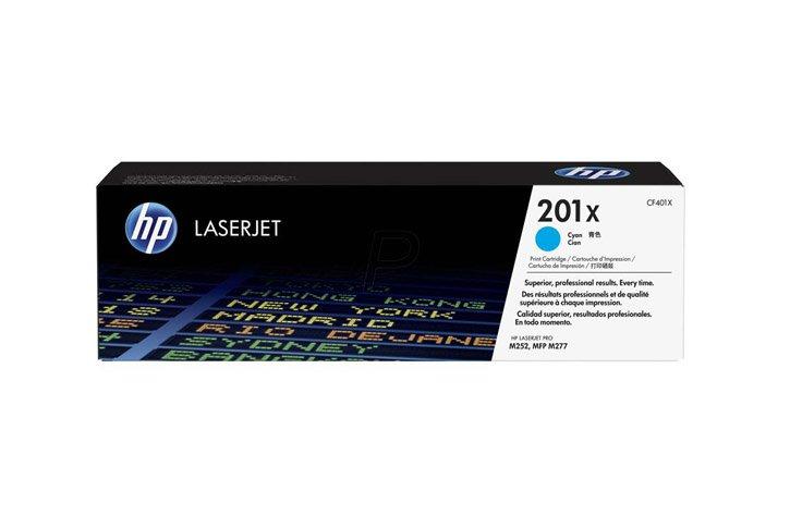 טונר מקורי ציאן HP 201X (CF401X)  לכ-2300 דף