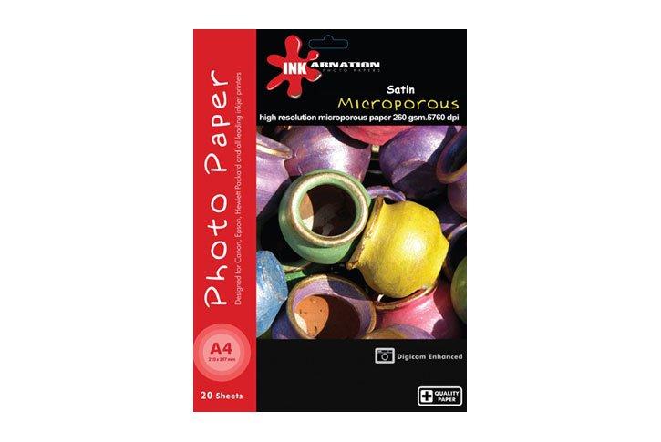 נייר פוטו מיקרופורוס SATIN - עובי 260 גרם גודל A4