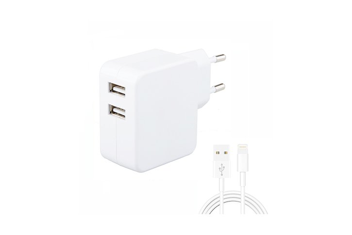 מטען USB כפול עם כבל PC- WC MFI 3.4 Lightning