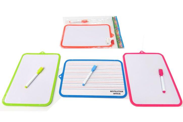 לוח מחיק 18.5x26 לתלמיד - מסגרת צבעונית
