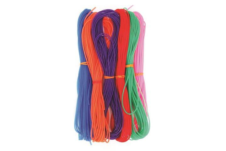 מארז 6 חוטי פלסטיק - חוט ניילון חלול 10 מטר