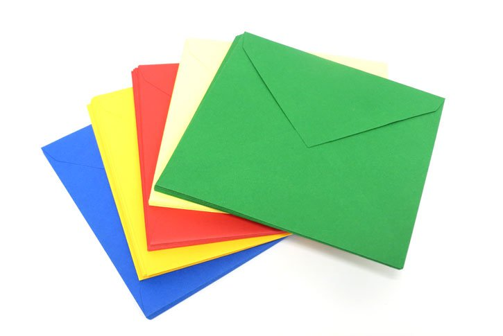 40 מעטפות צבעוניות איכותיות,גודל 17X17 ס``מ