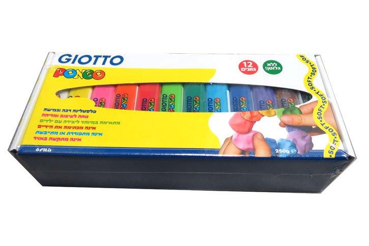 פלסטלינה GIOTTO סט 12 צבעים - 3 ק``ג