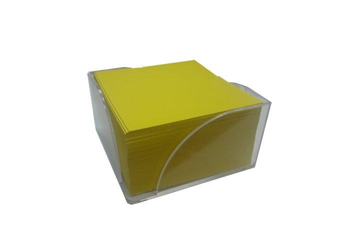 מתקן עם קוביית ממו מילוי בריסטול צהוב לימון גובה  5 ס``מ