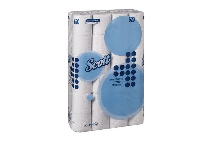 נייר טואלט SCOTT® טישו דו-שכבתי משובח-48 גלילים - חוגלה-קימברלי