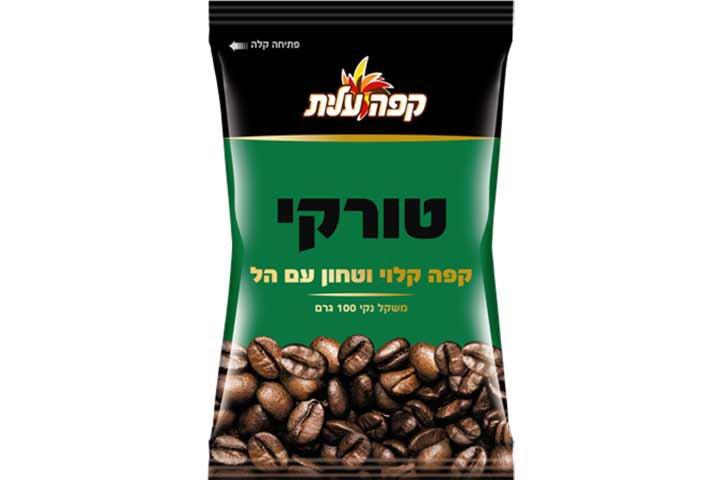 קפה טורקי קלוי עלית עם הל 100 גרם - בשקית