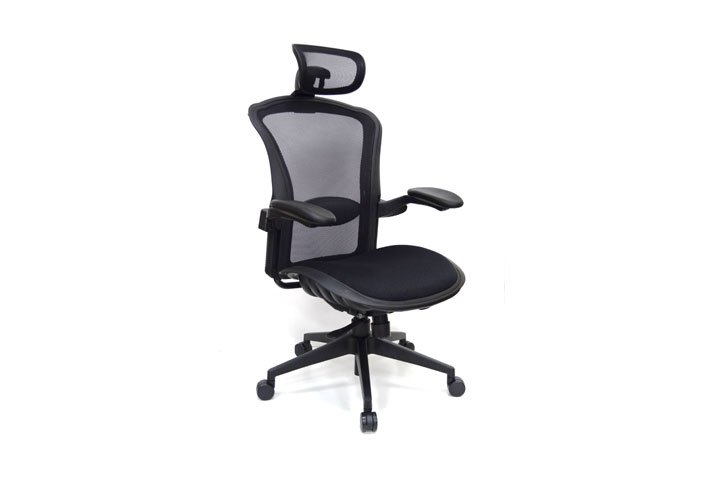 כסא מנהל קונקורד - גב רשת מרופד