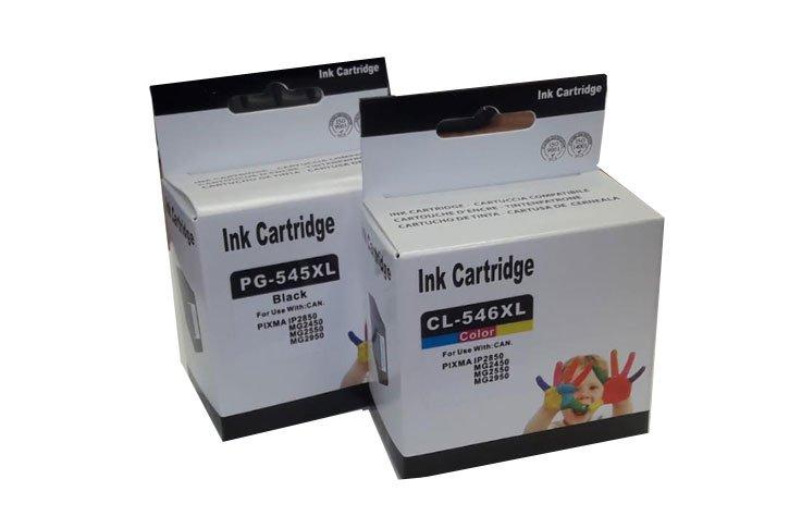 זוג ראשי דיו  תואמים CANON PG-545XL+CL-546XL