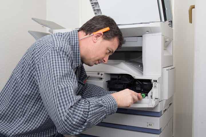שירות תיקונים למדפסות באתר הלקוח