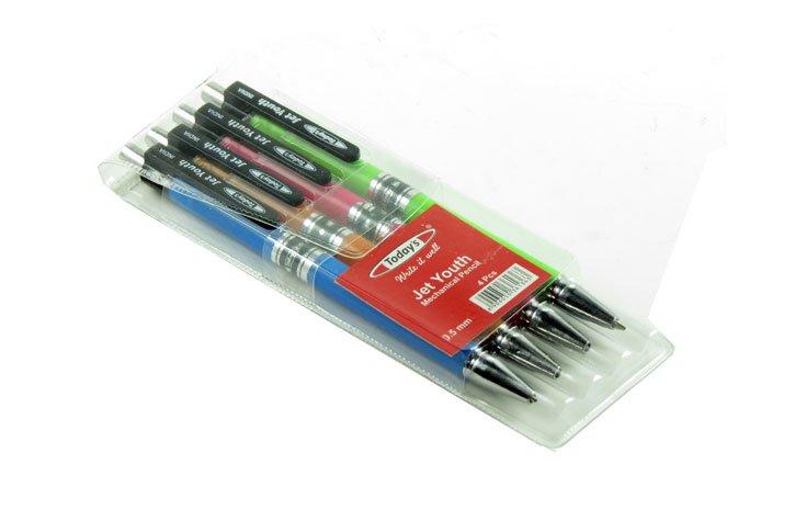 סט 4 עפרון מכני 0.5 מ``מ  JET YOUTH