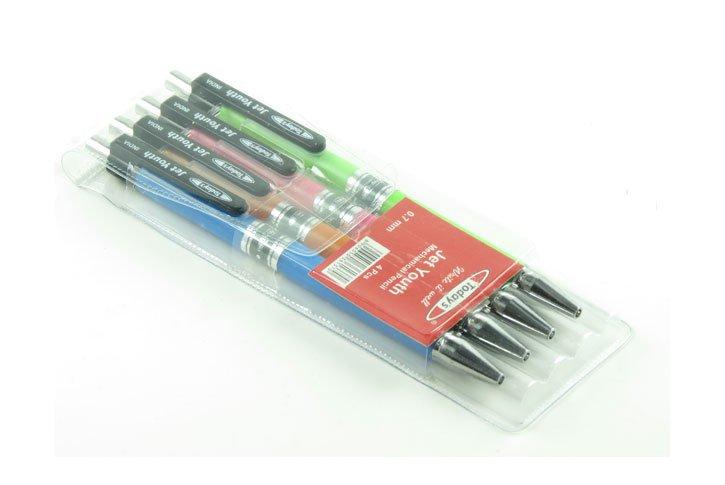 סט 4 עפרון מכני 0.7 מ``מ  JET YOUTH