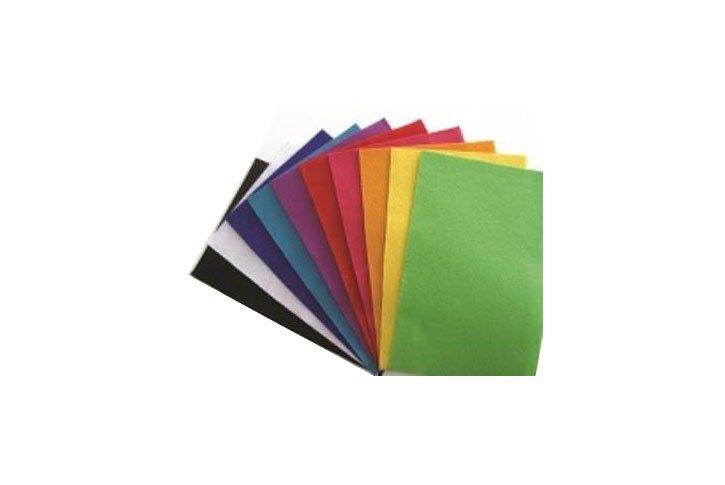 10 משטחי לבד בצבעים שונים 20X30 ס``מ