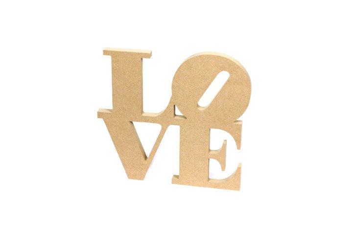 אותיות עץ LOVE