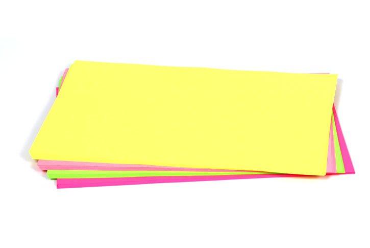 נייר צילום A4 בצבעים  זרחני / פלורסנטי  - 80 גרם - 100 דף