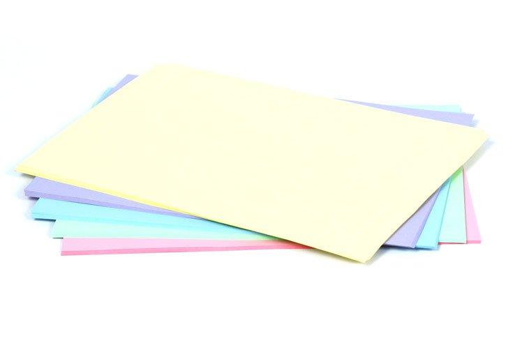 נייר צילום A4 בצבעים  פסטלים  - 80 גרם - 100 דף מעורב