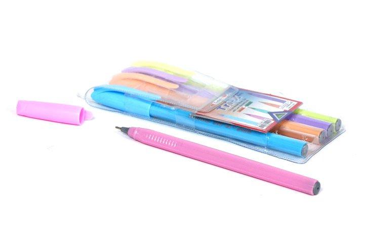 סט 5 עטים כדוריים בצבעי פסטל  TODAY`S TRI X