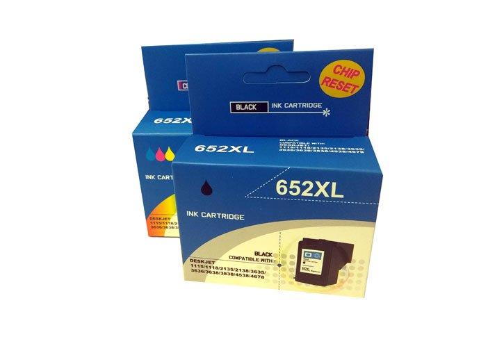 זוג ראשי דיו תואמים HP 652XL