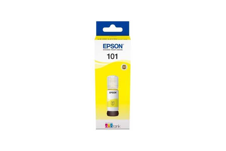 בקבוק דיו צהוב מקורי EPSON 101  127ml C13T03V44A אפסון -