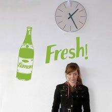 מדבקת קיר - Fresh