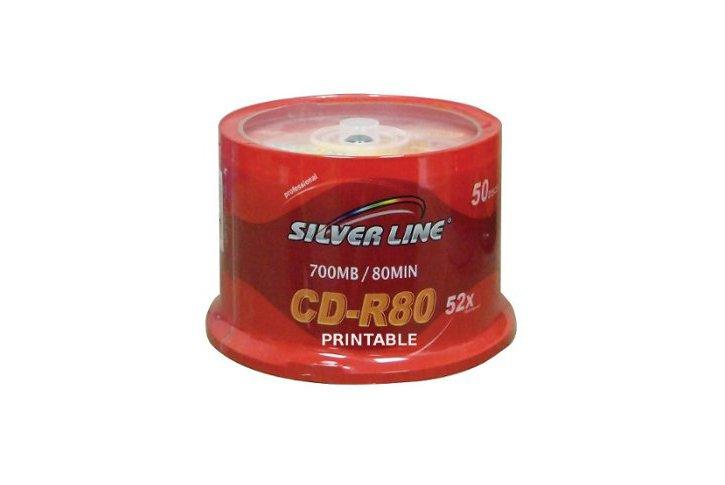 PRINTABLE SILVER-LINE CD-R 700M