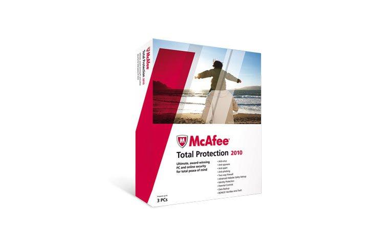 חבילת הגנה מקיפה MCAFEE TOTAL PROTECTION 2010