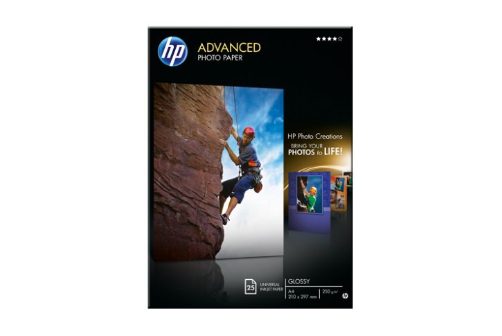 נייר פוטו מבריק  HP Q5456A - עובי 250 גרם A4